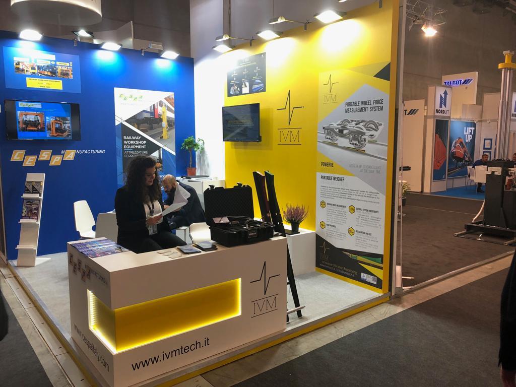 Lo stand di IVM a Innotrans 2018