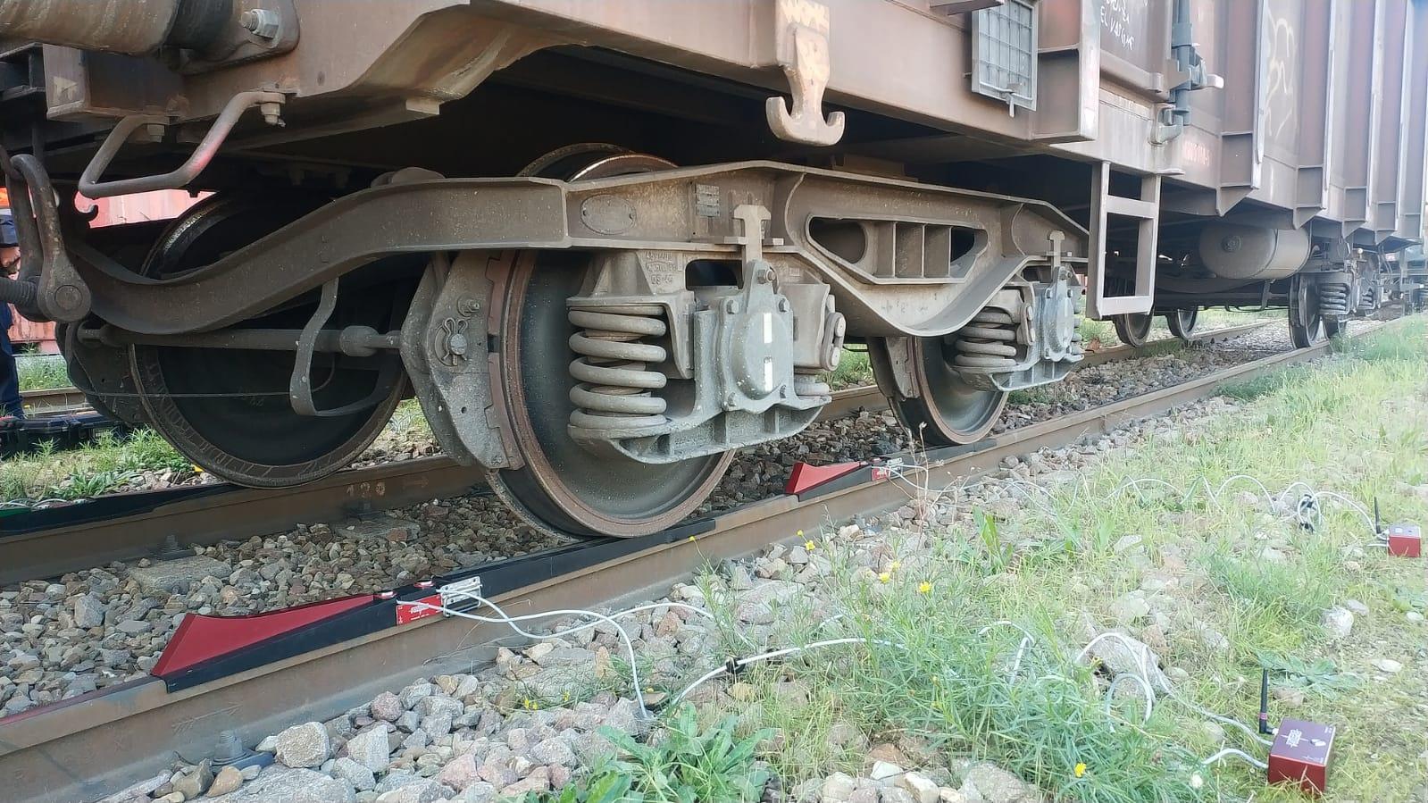 Báscula portátil para trenes