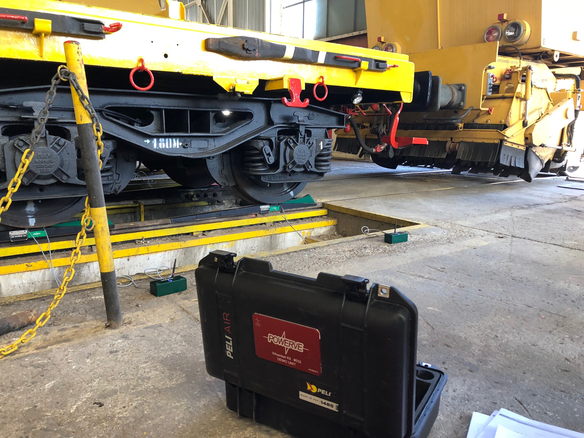La pesa statica POWERVE nel deposito Armafer