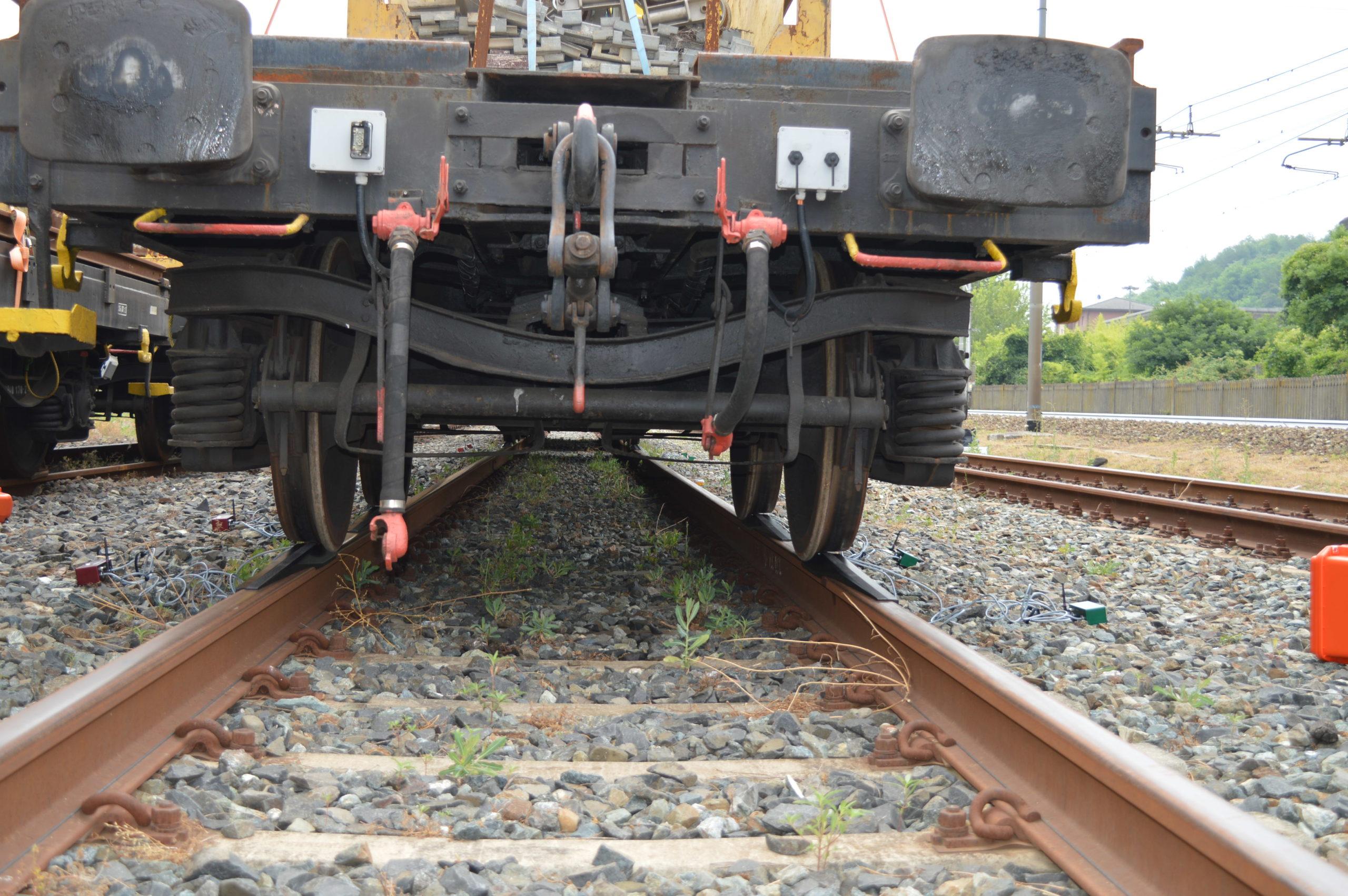 treno in salita sulla pesa rotabili durante training GCF
