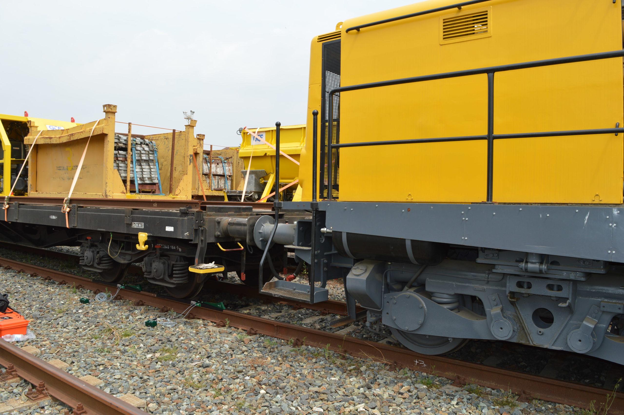 mezzo d'opera GCF – Generale Costruzioni Ferroviarie durante training POWERVE
