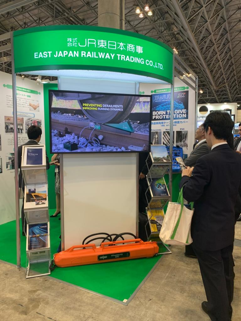 Portable railscale in EJRT stand