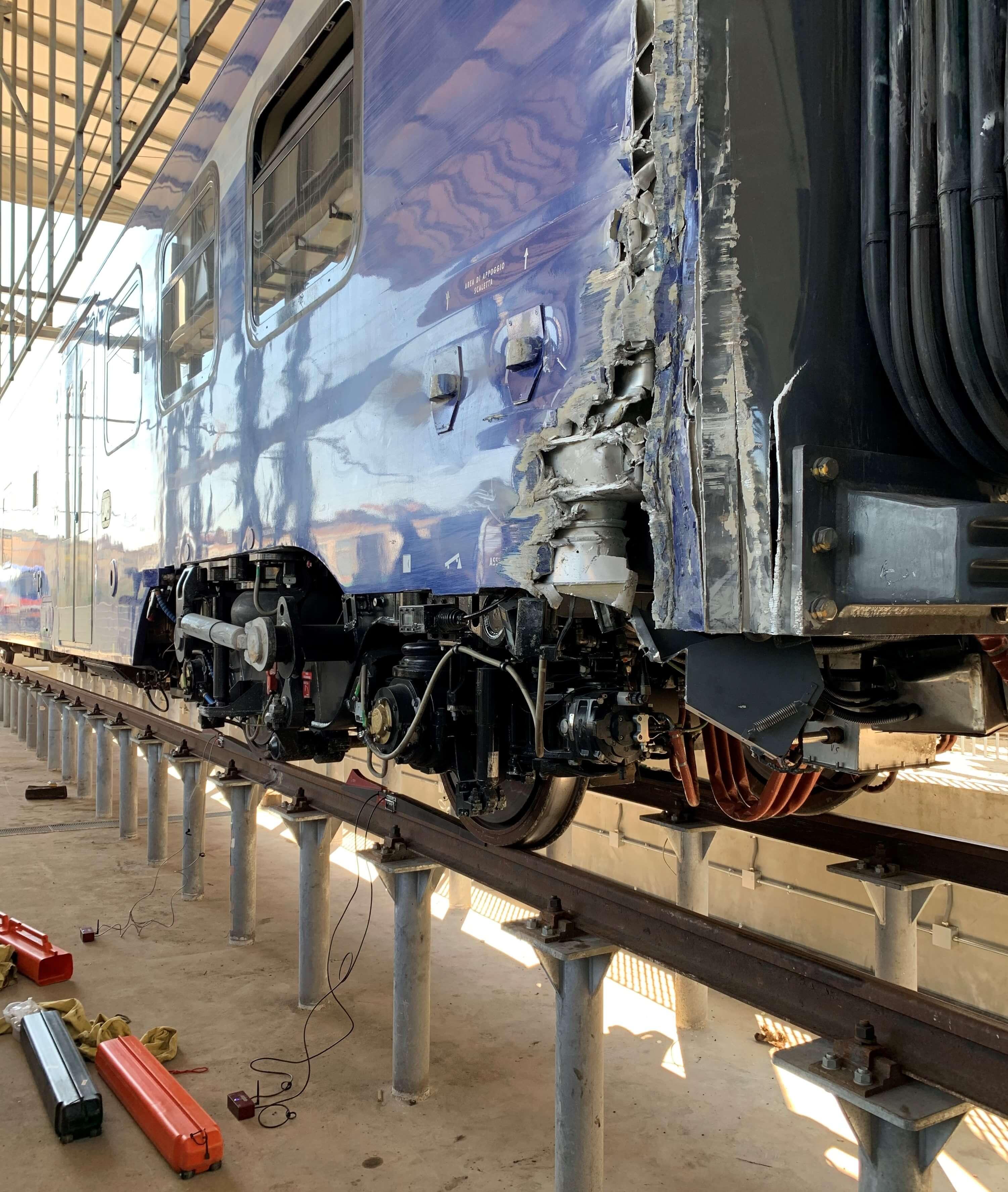 sistema di pesatura portatile per misure del treno EAV